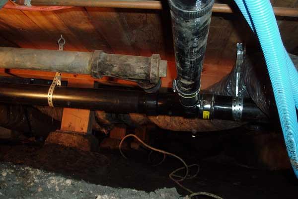 Below Floor Piping